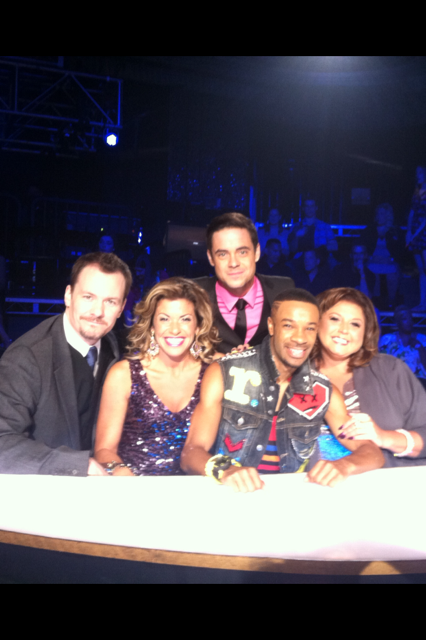 Davis Robertson as a guest judge on Abby's Ultimate Dance Competition