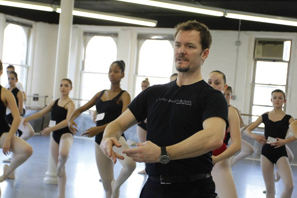 Davis Robertson leading an audition class for the Joffrey Ballet School Summer Ballet Intensive in NYC. Photo credit: Mission 101 Media