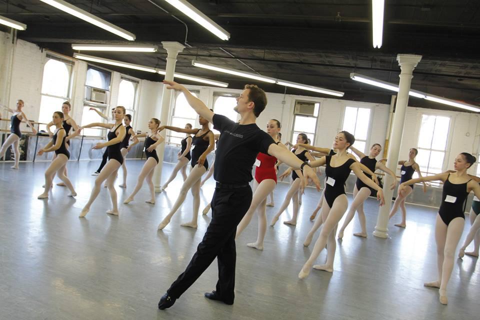 Davis Robertson teaching a Ballet class during the Joffrey Summer Intensive Audition Tour 2014. Photo Credit, Mission 101 Media