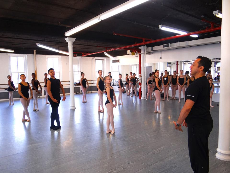 Juan Carlos Penuela's Class at The Joffrey Ballet School Jazz & Contemporary Intensive NYC  Photo credit: Michael Blake