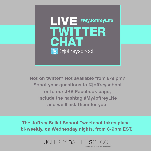 Join The Joffrey Ballet School For A Live Twitter Chat! Use hashtag #MyJoffreyLife!