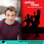 #GoTheJoffreyDistance: Matthew Prescott's Audition Tips